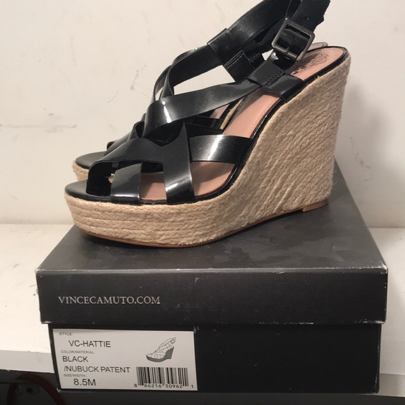 a19ed6c7472 Vince Camuto patent leather wedges
